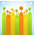 Banners with trees vector image vector image