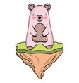 bear wild animal cartoon vector image