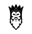 bearded king icon design element for sign badge t vector image vector image