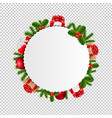 big xmas poster transparent background vector image