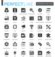 black classic business analytics icons set vector image vector image