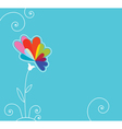 blue background with flower vector image vector image