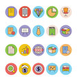 Business and Office Colored Icons 5 vector image