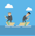 businessmen break up business vector image