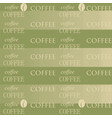 coffee wallpaper green vector image vector image