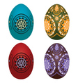 Colorful easter eggs2 vector image