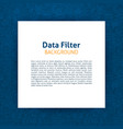 data filter paper template vector image vector image