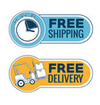 delivery service with chronometer vector image vector image