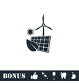 Eco power icon flat vector image vector image