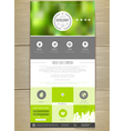 Ecology concept Web site design vector image
