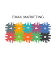 email marketing cartoon template with flat vector image vector image