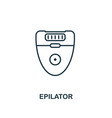 epilator icon line style element from hygiene vector image vector image