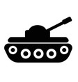 filled tank super icon on white background flat vector image