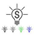 financial idea bulb icon vector image vector image