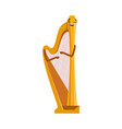 funny harp musical instrument cartoon character vector image vector image