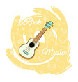 guitar rock music-04 vector image vector image