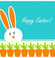 Happy Easter Funny Background with Rabbit and vector image vector image