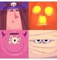 happy halloween halloween characters vector image vector image