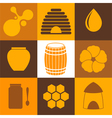 Honey Icon Set vector image vector image