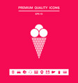 ice cream icon graphic elements for your design vector image