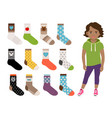 kids socks for girls vector image vector image