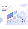 landing page template cloud computing vector image