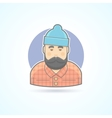 Lumberjack man with beard hipster woodman icon vector image vector image