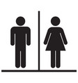 male and female restrooms icon vector image vector image
