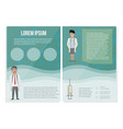 medical template in cartoon style can be used for vector image vector image