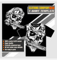 mock up clothing company t-shirt templatestyle vector image vector image