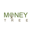 money tree logo vector image vector image