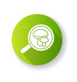 mycology green flat design long shadow glyph icon vector image vector image