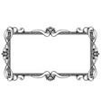ornamental frame label design vector image