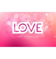 paper inscription love on a pink background vector image