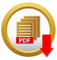 pdf download button vector image vector image