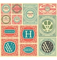 retro cards set elements organized layers vector image vector image