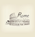 rome city view landmark coliseum sign travel vector image vector image