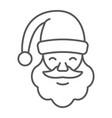 santa claus thin line icon christmas vector image vector image