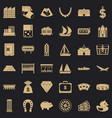 savings icons set simple style vector image vector image