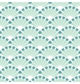 Sea Green Fans Abstract Seamless Pattern vector image vector image