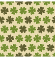 seamless four leaf clovers green vintage pattern vector image vector image