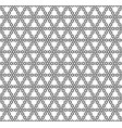 seamless geometric pattern in black and white vector image vector image