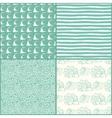 Set of decorative nautical seamless patterns vector image