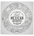 Set of Mexican food cartoon doodle objects vector image vector image