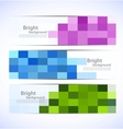 Set of pixelated banners vector image vector image