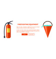 set of special isolated fire protection equipment vector image vector image