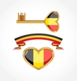 set of symbols of belgium vector image
