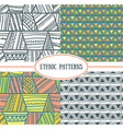 Set of tribal seamless patterns It can be used for vector image