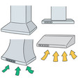 set of vent hood vector image vector image