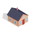 side view on three dimensional cottage house vector image vector image